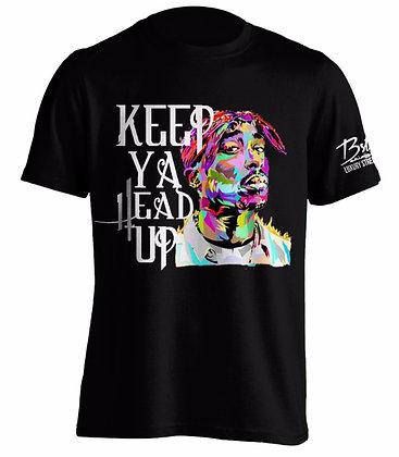 KEEP YA HEAD UP (Black Tee)