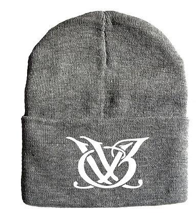 Light Grey and White Logo Skull Cap