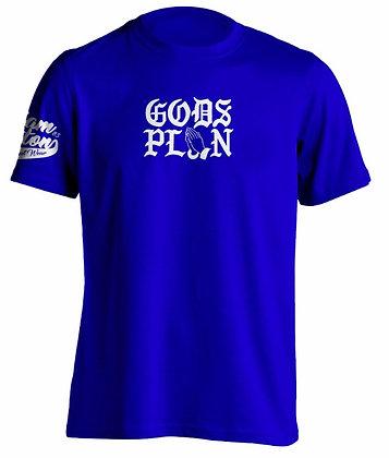 GODS PLAN TEE BLUE