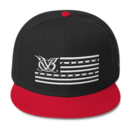 STARS N STRIPES BLACK/RED SNAPBACK