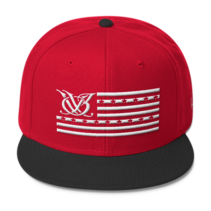 STARS N STRIPES RED/BLACK SNAPBACK