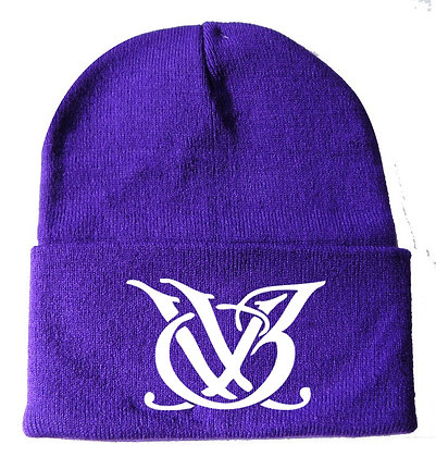 Purple and White Logo Skull Cap
