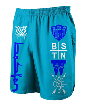 Logo Spread Carolina Jogger Shorts