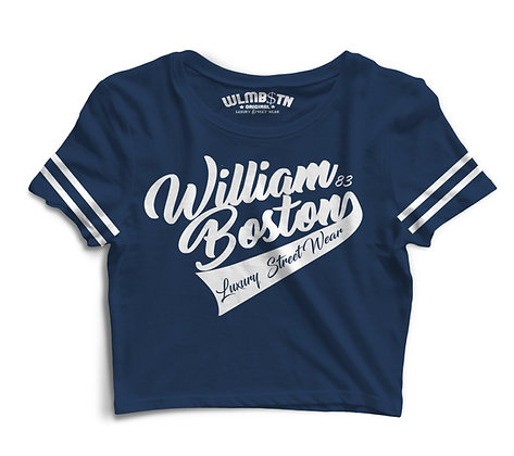 WB Captains Crop (Navy)