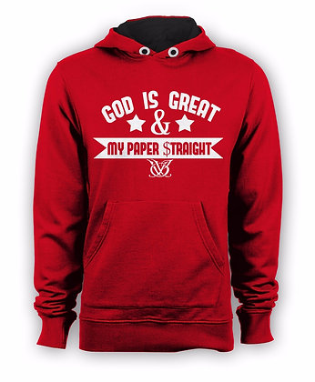GOD IS GREAT HOODIE (RED)