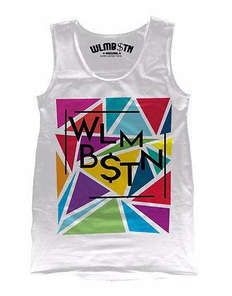 Triangular Maze Tank White