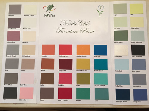 Håndmalt fargekart