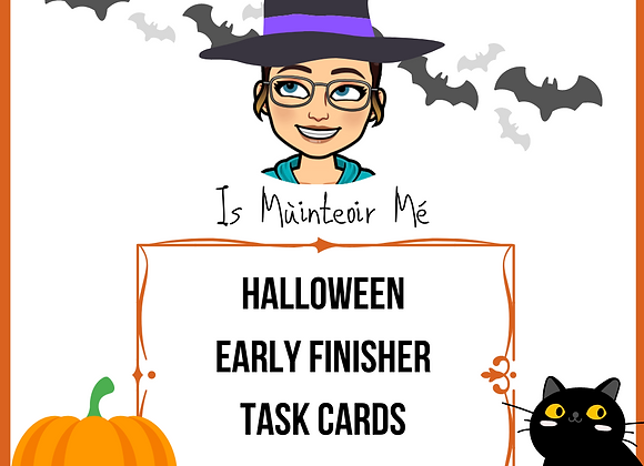 Halloween Early Finisher Cards