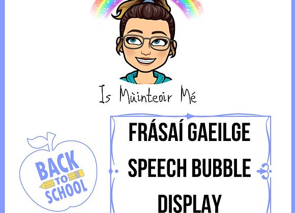 Frásaí Gaeilge Speech Bubble Display