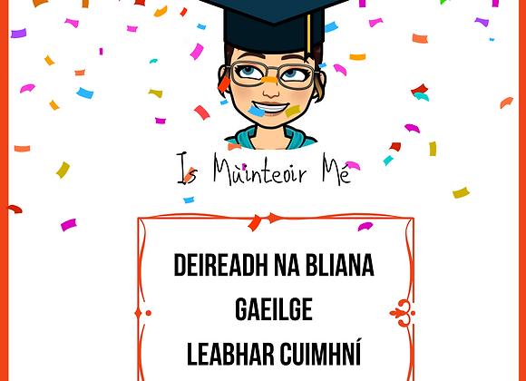 End of Year Leabhar Cuimhní GAEILGE