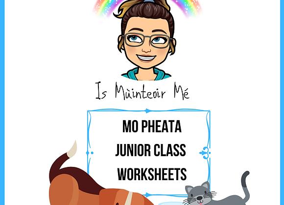 Mo Pheata - Junior Worksheets