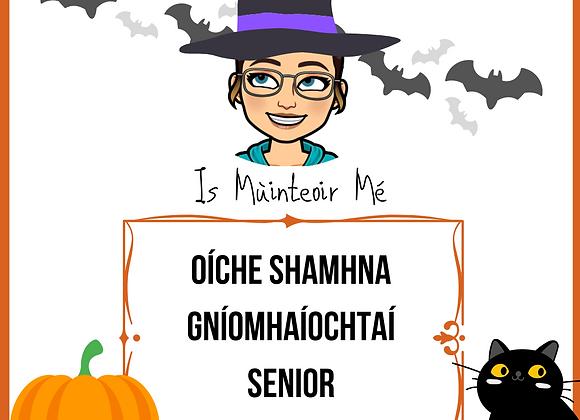Oíche Shamhna - Gníomhaíochtaí SENIOR