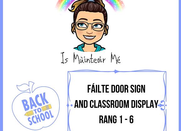 Fáilte Go Rang 1 - 6 Display
