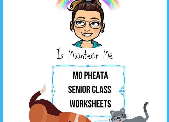 Mo Pheate - Senior Worksheets