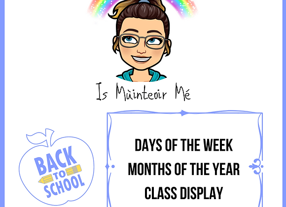 Days and Months - Class Display