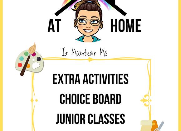 Choice Board - Juniors