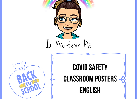 Covid Safety Classroom Posters (English)