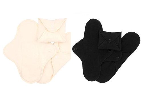 Imse Vimse pack de 3 compresas de noche de algodón orgánico