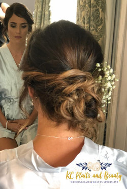 gorgeous wedding hair updo with gyp
