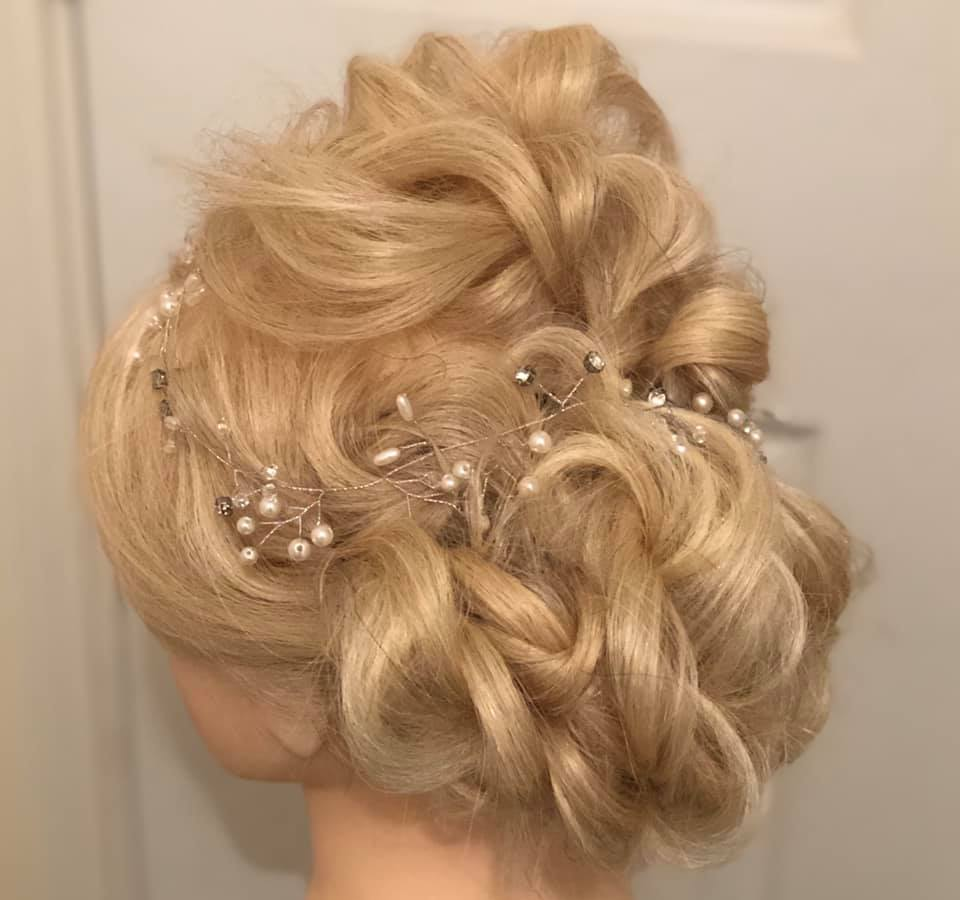 Pretty textured wedding updo