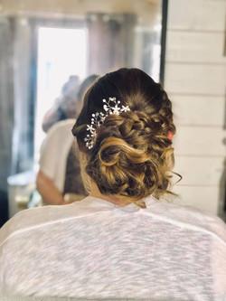 Beautiful Bride textured bun with plait