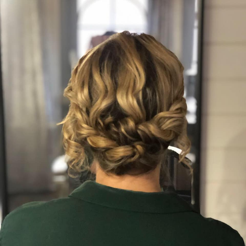 Beautiful effortless twisted hairstyle