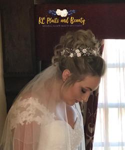 bridal hair messy bun
