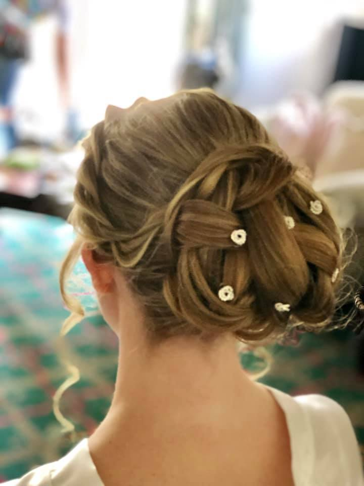 Pretty layered and neat bun_chignon with
