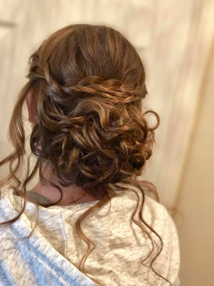 Beautiful Bridesmaid messy updo