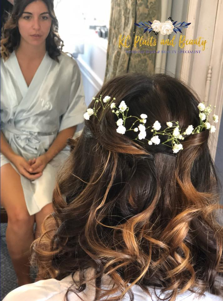bridesmaid hair half up half down with g