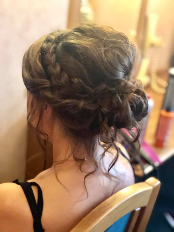 Gorgeous boho 'messy' updo - Essex weddi
