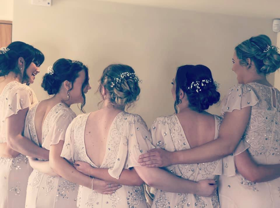 beautiful bridesmaids at Copdock Hall, S