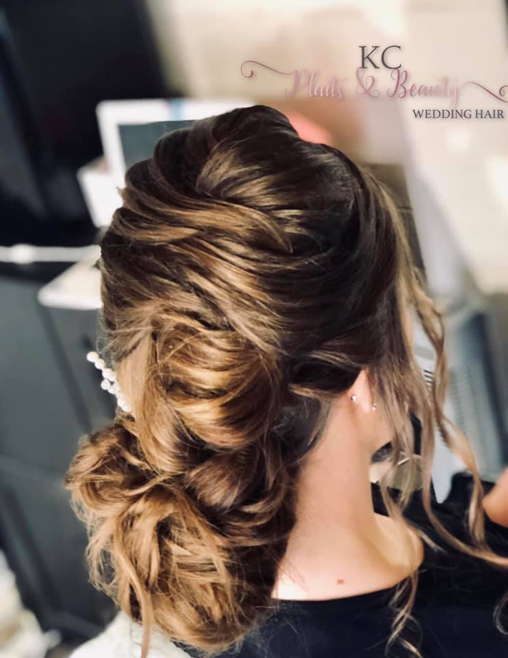 Beautiful textured wedding hair in Essex