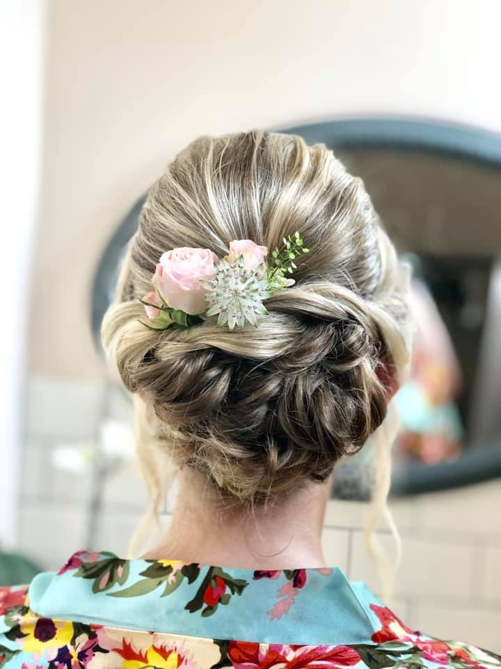 Beautiful Bridesmaid updo at Copdock Hal