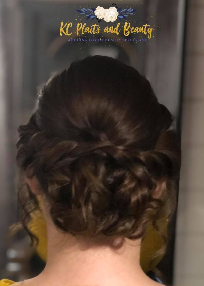 textured bridesmaid updo in Essex
