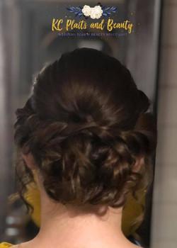 textured bridesmaid updo in Essex