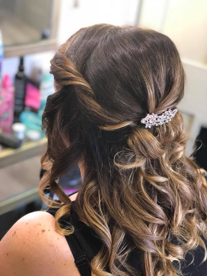 bridal hair curls and twists