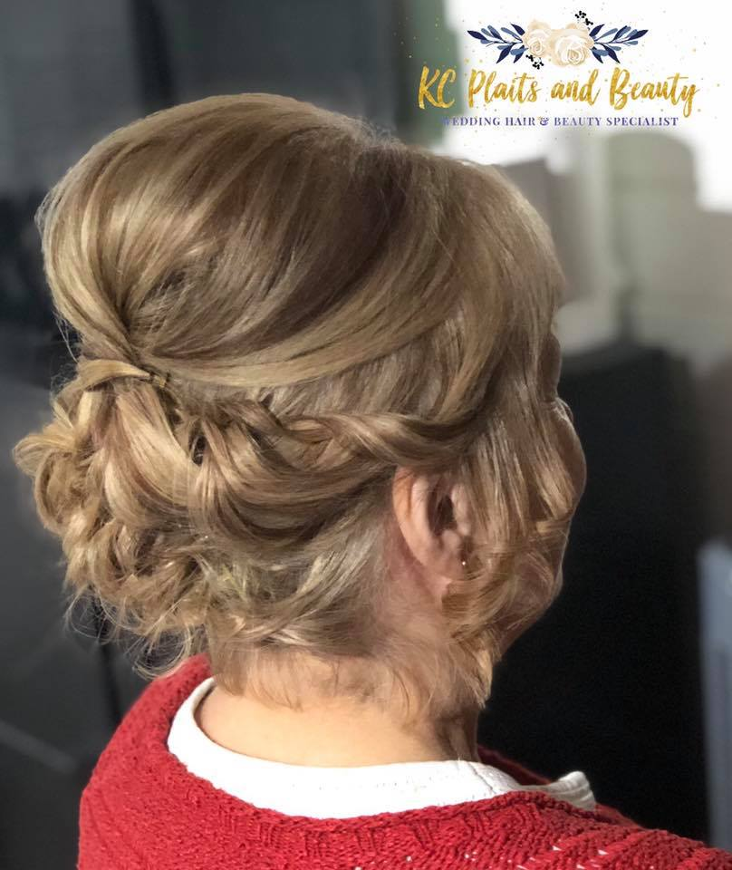 mother of the groom updo in Essex