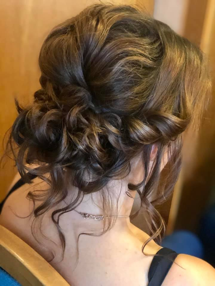 Gorgeous boho 'messy' updo - wedding hai