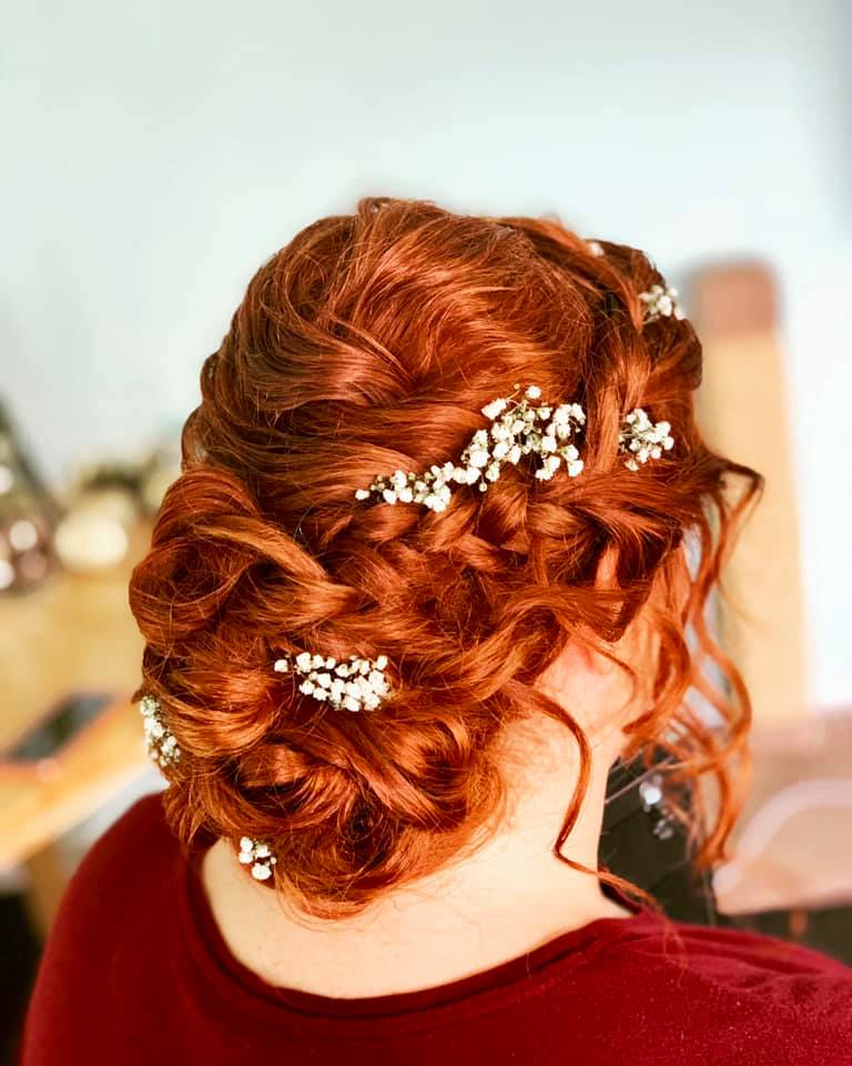 Beautiful Bride Hair up in Chelmsford, E