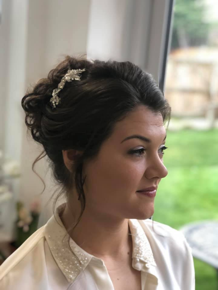 pretty bride updo in Braintree, Essex
