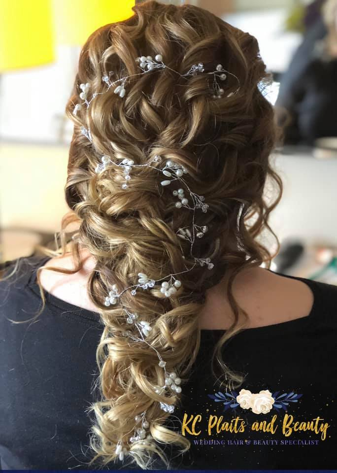 gorgeous bridal hair and hair vine