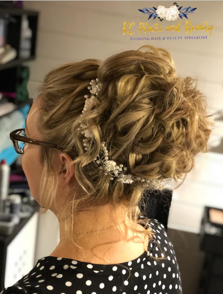 KC Plaits & Beauty -bridal messy bun