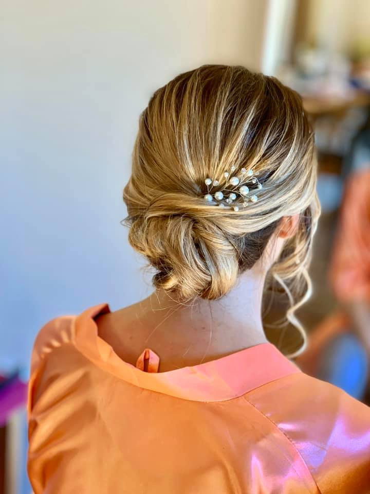 Beautiful Bridal updo at The Great Lodge