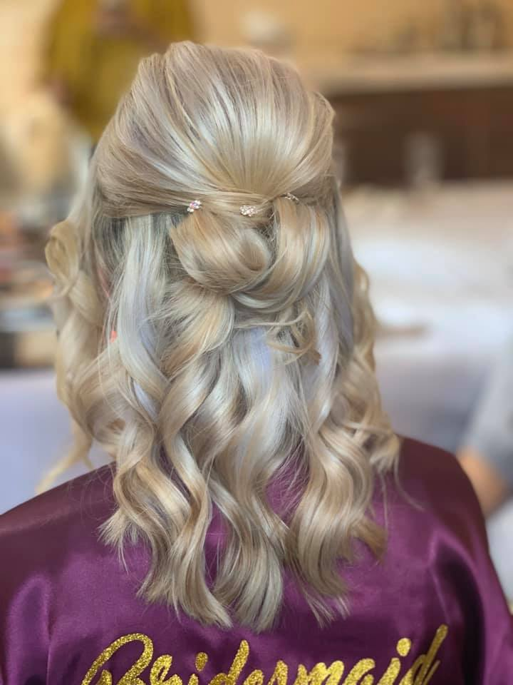 Beautiful bride hair at Mulberry House,