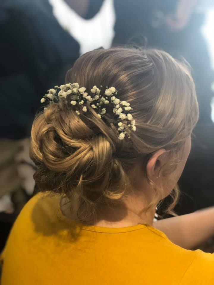 beautiful textured updo for this beautif