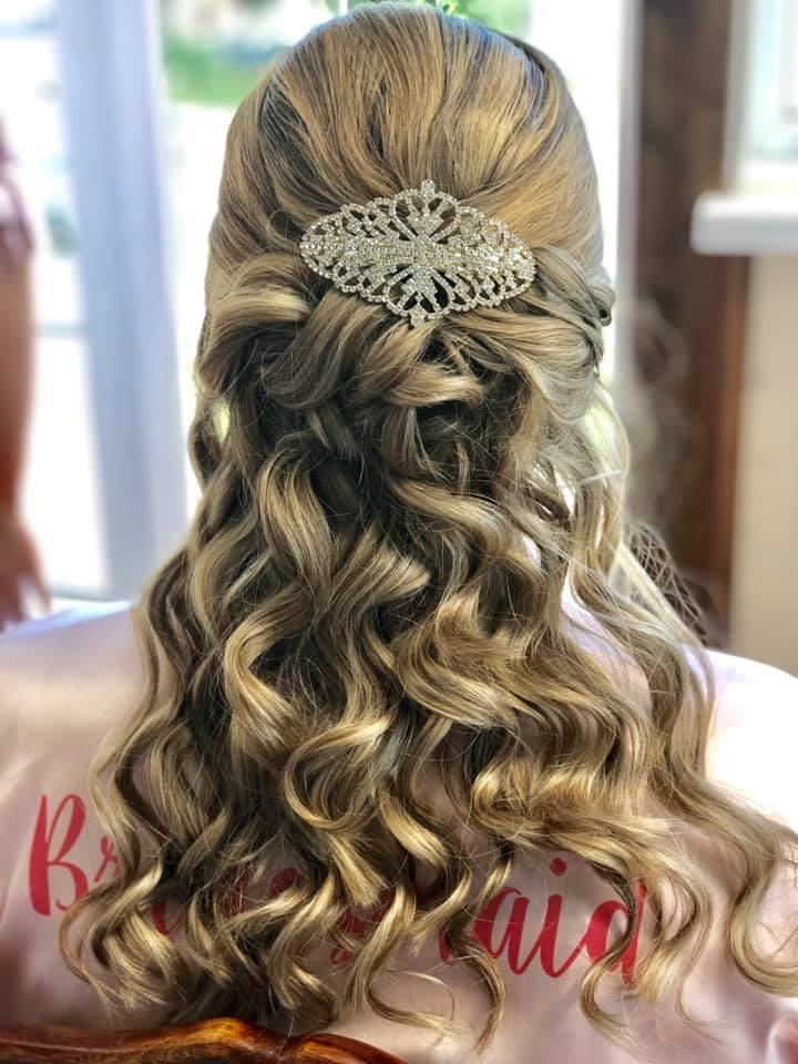 Beautiful Bridal hair down