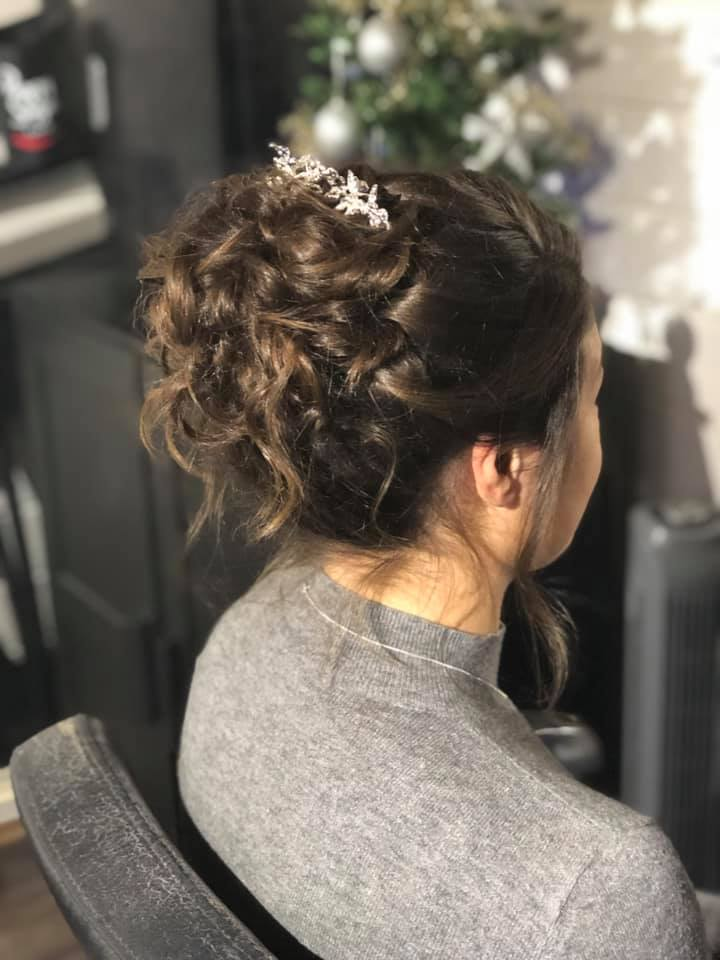 beautiful bride's loose updo