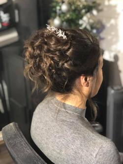 beautiful bride's loose updo