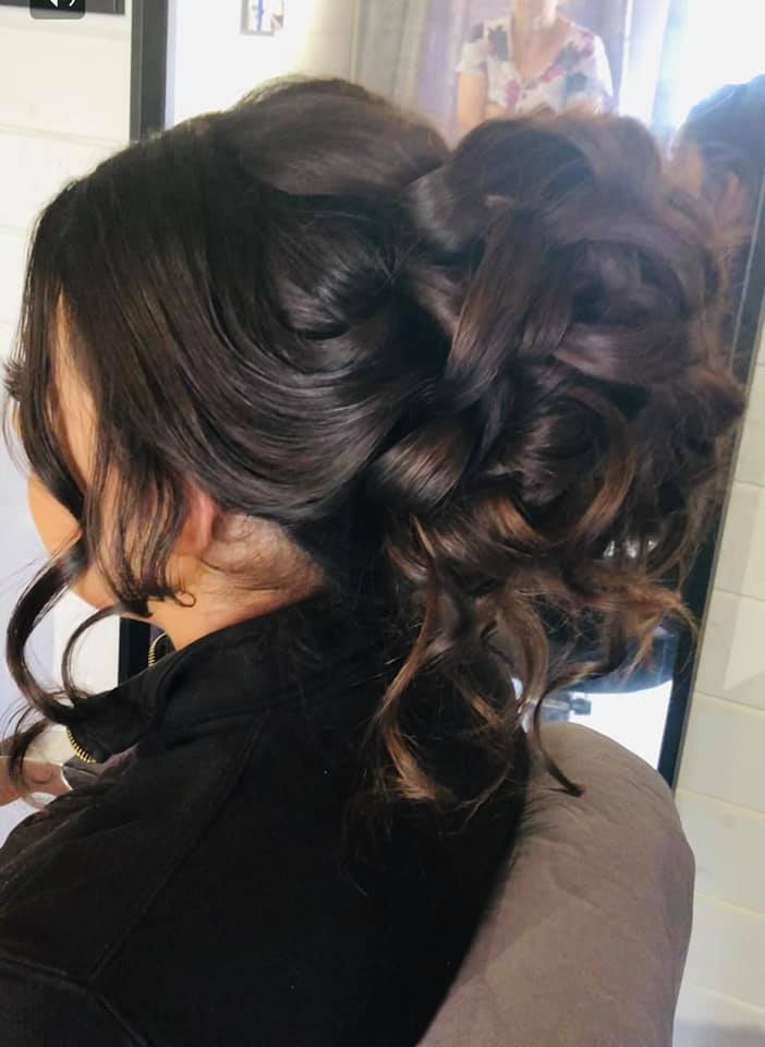 Gorgeous large curly updo - Wedding hair